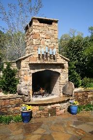 outdoor fireplace georgia
