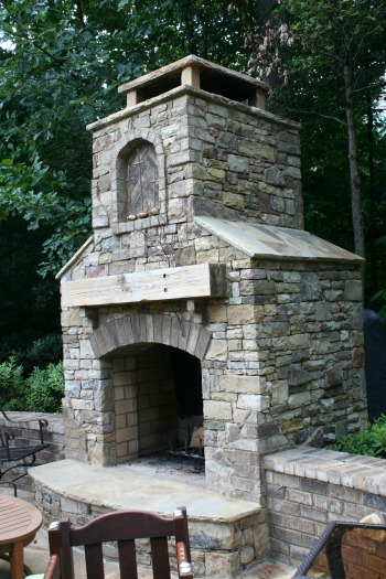 Outdoor Fireplace - Atlanta Landscaping