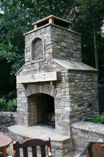 Outdoor Fireplace - Atlanta Landscaping